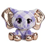 """GUND P.Lushes Designer Fashion Pets Ella L'Phante Elephant Premium Stuffed Animal Stylish Soft Plush with Glitter Sparkle, for Ages 3 and Up, Blue and Gold, 6"""""""