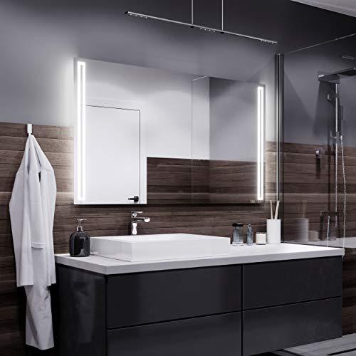 Alasta Miroir   Roma - Miroir Mural avec LED Illumination   120x80cm   Miroir de Salle de Bain   Classe Énergétique A ++