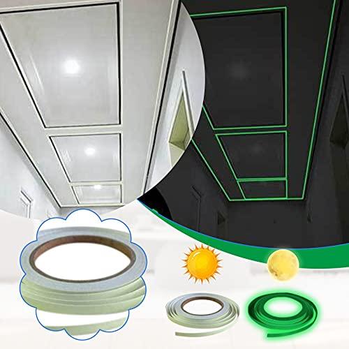 Luminous Tape - Cinta adhesiva luminosa, 7 mm x 10 m, cinta adhesiva neón, fluorescente, resistente al agua, 1 unidad