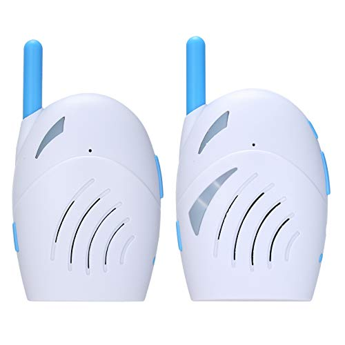KKmoon Monitor de Bebé Inalámbrico, Vigilabebés Portátil, Audio Bidireccional, 2.4GHz, Detector de Llanto de Bebé, Alta Sensibilidad, Función de VOX, Música, Luz Nocturna