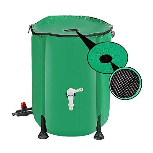 YJFENG Barril de Lluvia Plegable, contenedor de Almacenamiento de Agua de Tela de Malla de PVC de Alta Resistencia, para recolección de Agua de Lluvia, riego de jardín