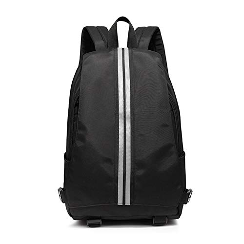 MHUI School Backpack Travel Bag for Men and Women, Lightweight College Back Pack with Laptop Compartmen,Black