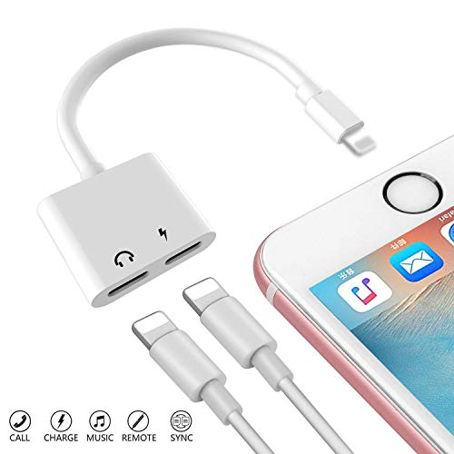 MAZIORT Adaptor Splitter Earphone Jack Audio Charger Cable