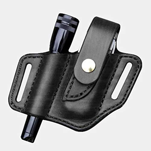 Bongba EDC Leder Gürtelmesser Scheide Organizer Hülle Taille Holster Gürtelschlaufe Organizer Tasche Aufbewahrungstasche Tasche Gürtel Werkzeug Tasche für Leichteren Taktischen Stift
