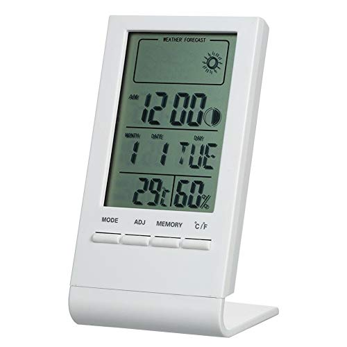 Minirok Digital Indoor hygrometer Home Kitchen supplies (Color : White)