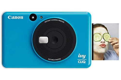 "Canon IVY CLIQ Instant Camera Printer, Mini Photo Printer with 2""X3"" Sticky-Back Photo Paper(10 Sheets)"