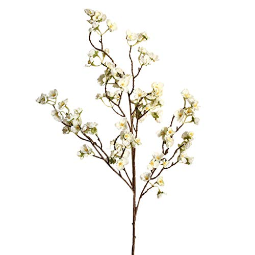 Deng Xuna Kunstblumen Cherry Blossom Kirschblüte Künstliche Blumen Plastikblumen Kunstpflanze für Balkon Garten Außenbereich Zuhause Büro Vase Hochzeit Party Dekoration Blumendekor, 97 cm (A) - 3