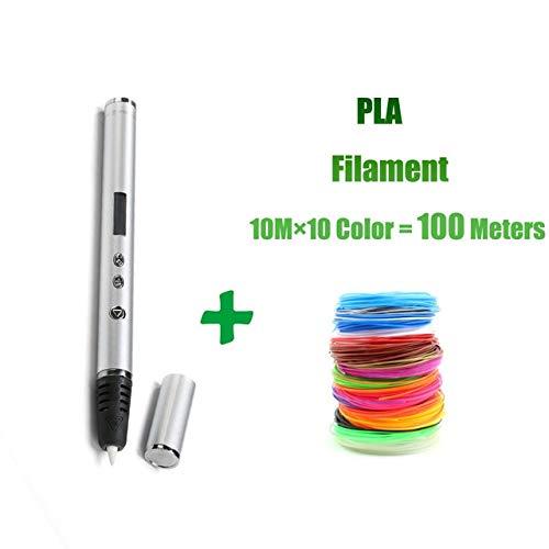 HUAHUA Pluma De ImpresióN 3D Soporte de Pluma de impresión 3D ABS/PLA filamento diseño de Regalo de Juguete Creativo para niños Pluma de Dibujo 3D diseño de Bricolaje