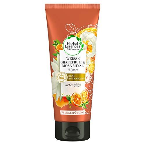 Herbal Essences PURE:renew Weiße Grapefruit & Mosa Minze Volumen Pflegespülung, 200 ml, Conditioner, Haarpflege, Conditioner Volumen, Minze, Grapefruit Conditioner, Haarpflege Volumen