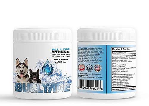 Bullyade Natural Dog Supplement with 18 Vitamins & Minerals. Mixes with Water or Food. (Beef)