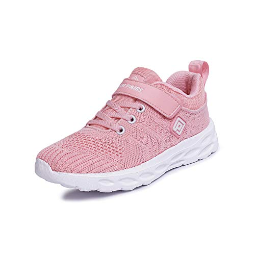 DREAM PAIRS Girls KD18001K Lightweight Breathable Running Athletic Sneakers Shoes Pink, Size 12 M US Little Kid