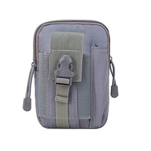 Taktische Hüfttaschen für Herren/Skxinn Männer Sport Tasche Gürteltasche, Outdoor Beutel Taille Taschen für Gadget-Dienstprogramm Handy Camping Wandern und Reisen Ausverkauf(Grau)