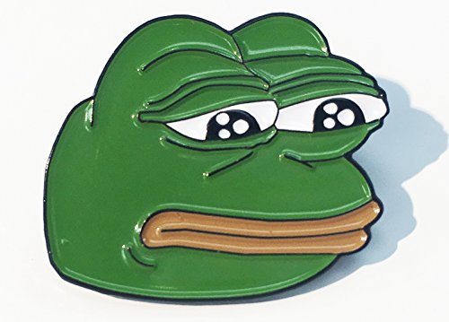 Sad Pepe 4Chan Dank Rare Pepes Enamel Lapel Pin