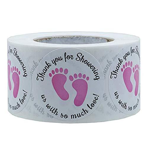 JHD Runde Dankeschön Aufkleber Scrapbooking Siegel Verpackungsetiketten Mini DIY Crafts Baby Shower Geschenke Dekorationen