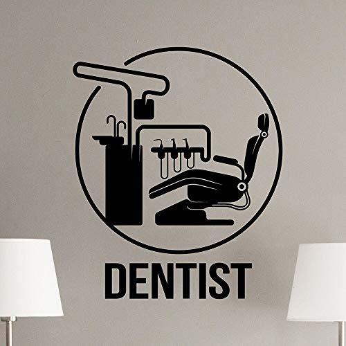 Cartel de dentista en la silla, dientes, estomatología, vinilo para pared, pegatina creativa, regal