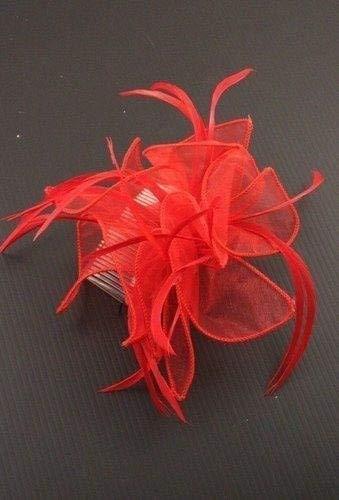 ALANNAHS ACCESSORIES Mesdames Grand Tissu bouclé et Plume Fascinator Prom Party Ball Ball Party