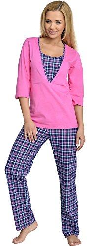 Be Mammy Damen Schlafanzug Stillpyjama V2R4N381 (Rosa-4, 38 (Herstellergröße: M))