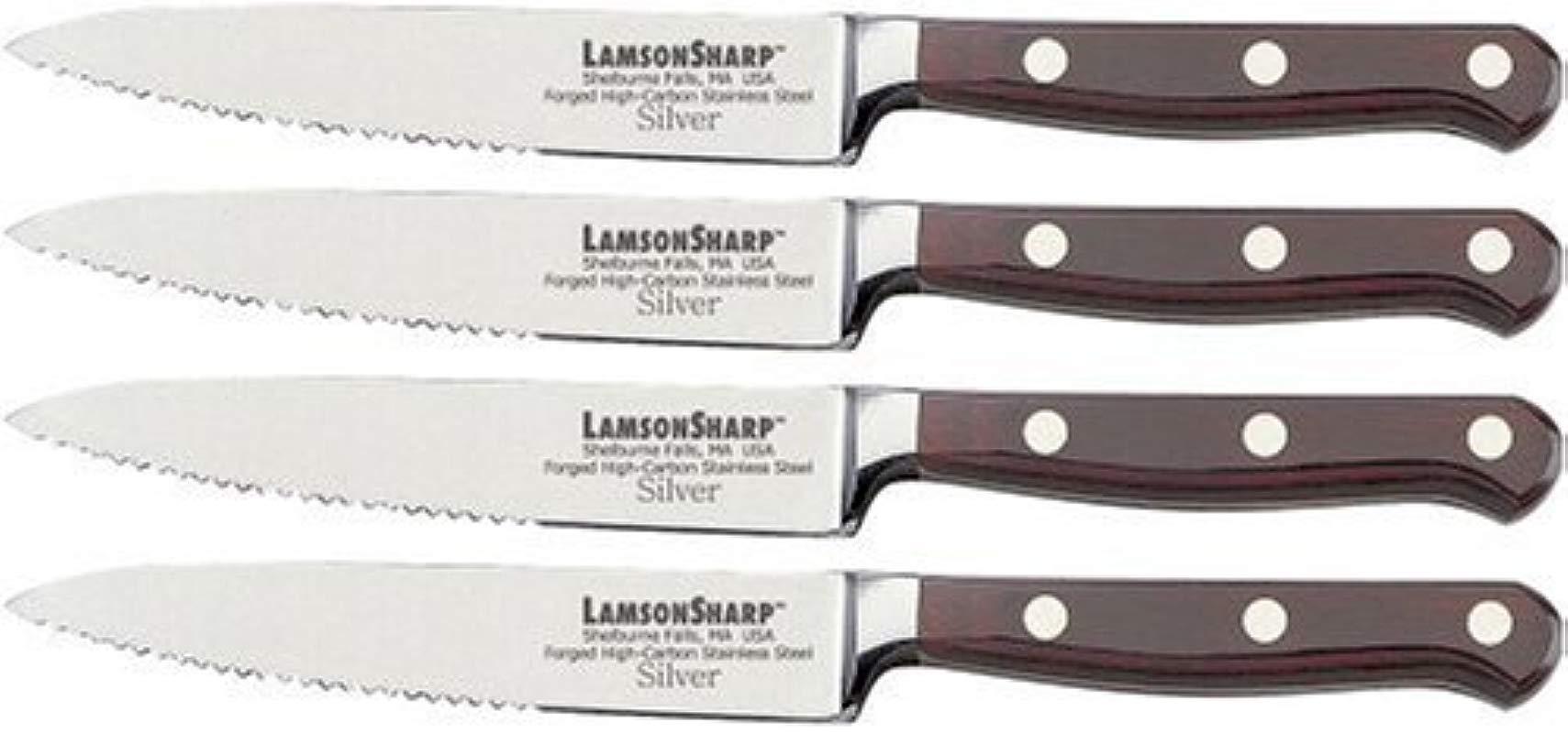 Lamson 39968 Steak Knife Set Set Of 4 Silver