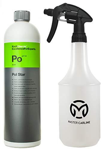 Koch Chemie Pol Star Allzweckreiniger Set für Leder und Textilreiniger - Polsterreiniger mit Master Carline Sprühflasche 1l