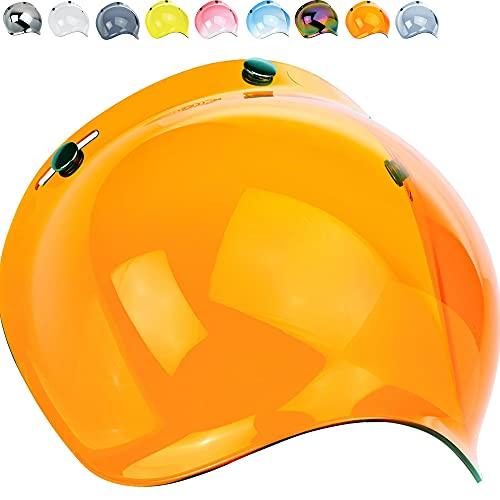 Visera tipo burbuja para casco integral
