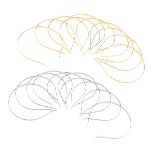 Esquirla 20/set Plain Metal Headband Frame For Craft Cat Ear Headband DIY Accessories