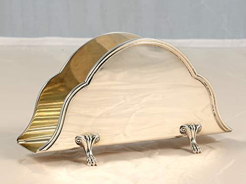 Zaramella Serviettenhalter Silber 800. Gewicht: 123 g, Höhe: 8 cm, Breite: 13 cm, Tiefe: 3 cm.