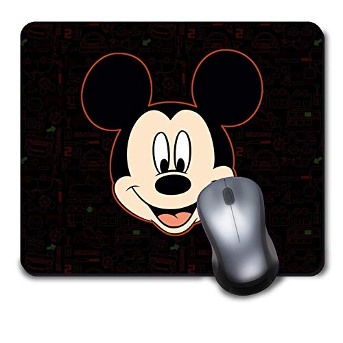 Computer Gaming Mouse Pad Non-Slip Rubber Material for Office and Home Laptop Desktop Notebook Mousepad - Disney Mickey Mouse Head