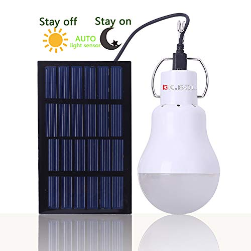 KK.BOL Solar Glühbirne solarlampe Garten Solar-leuchten Solar Lampe Innen Camping Glühbirne Solar Led Lampe außen … (GS-1200 Optische sensoren)