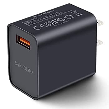 Quick Charge 3.0 Wall Charger 1-Pack 18W QC 3.0 USB Charger Adapter Fast Charging Block Compatible Wireless Charger Compatible with Samsung Galaxy S10 S9 S8 Plus S7 S6 Edge Note 9 LG Kindle Tablet