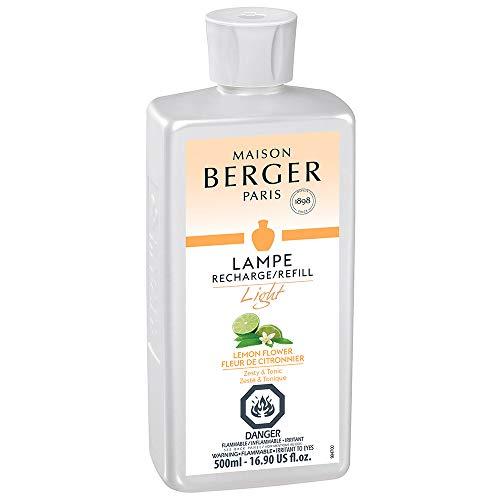 MAISON BERGER Light Lemon Flower Lampe Berger Refill for Home Fragrance Oil Diffuser, 16.9 Fluid Ounces-500 milliliters