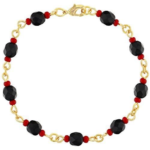 Simulated Azabache Lucky Charm Bracelet Mal de Ojo Protection for...