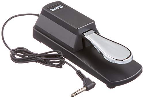 Rockjam Professionale Pedale Sustain per Pianoforti Digitali e Tastiere Elettroniche con Interruttore di Polarità
