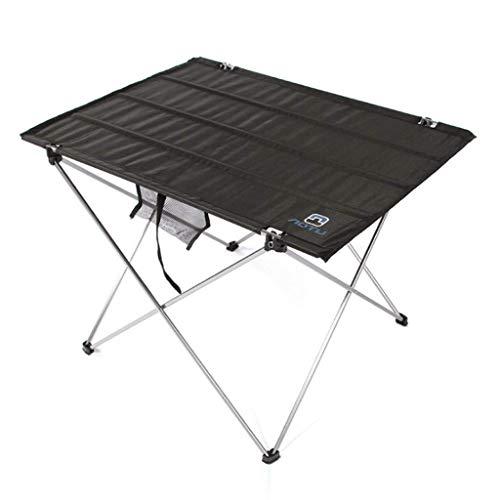 Pkfinrd Mesa de comedor al aire libre portátil terraza barbacoa de picnic de aleación de aluminio plegable mesa de camping picnic mesa de café