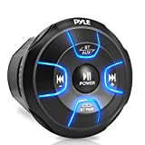 Pyle Amplified Wireless BT Audio Controller - Waterproof-Rated Marine Receiver Remote Control for...