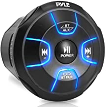Pyle Amplified Wireless BT Audio Controller - Waterproof-Rated Marine Receiver Remote Control for Car, Truck, Boat, 4x4, PowerSport Vehicles (800 Watt) (PLMRBT19)