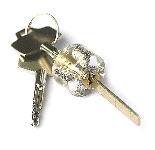 Ehdching Transparent Professional Cross Cutaway Cutaway Practice Padlock Locksmith Tools
