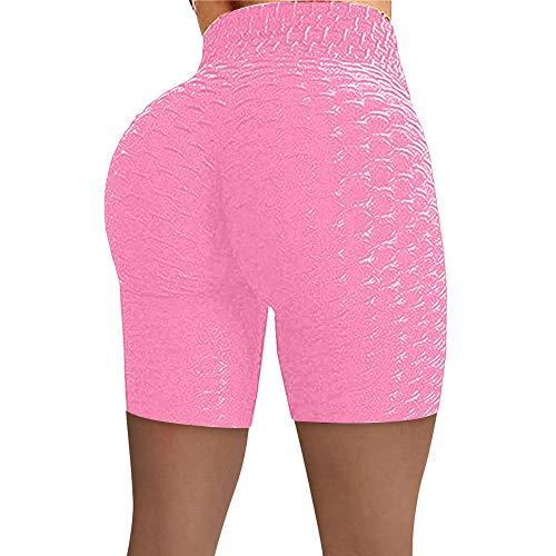bayrick Nuevo en 2066,Jacquard Bubble Yoga Pantalones de Cintura Alta elevación de Cintura-Rosa_L