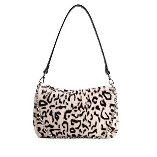 RARITYUS Damen-Handtasche mit Leopardenmuster, modisches Kunstfell, Handtasche mit Kettenriemen, (Stil 2), Einheitsgröße