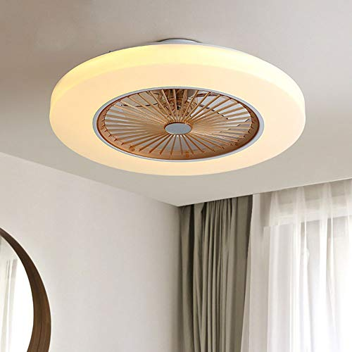 OUKANING Deckenventilator mit Beleuchtung LED-Licht Einstellbare Windgeschwindigkeit Dimmbar mit Fernbedienung 58cm Moderne Deckenleuchte für Schlafzimmer Wohnzimmer Esszimmer (Golden)