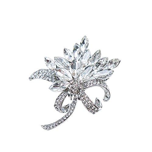Preisvergleich Produktbild Wicemoon Frauen Brosche Strass Blumen Diamant Wolken Broschen Pin Kragen Kreative Corsage Abzeichen Pin für Frauen Kleidung Zubehör Geschenk