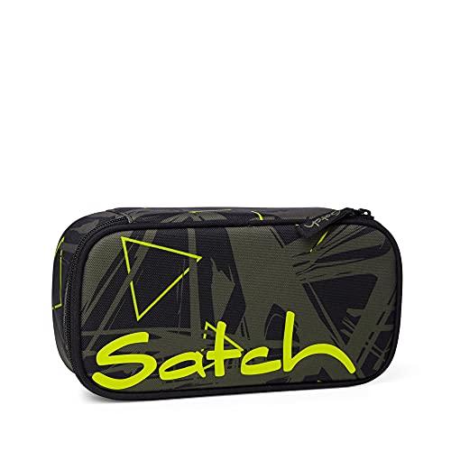 satch Schlamperbox - Mäppchen groß, Trennfach, Geodreieck - Geo Storm - Olive