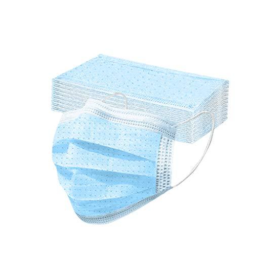 Eaylis 50 Stück Erwachsene Einweg Mundschutz, 3 lagig Mund-Nasen-Schutz, Einfarbig Multifunktionstuch Bandana Staubdicht Atmungsaktiv Bedeckung Halstuch Schals für Frauen Männer Erwachsene