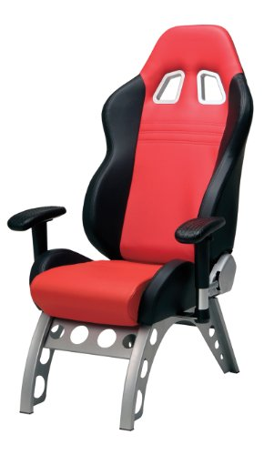 Pitstop Furniture GT4000R GT Receiver Chair, Red