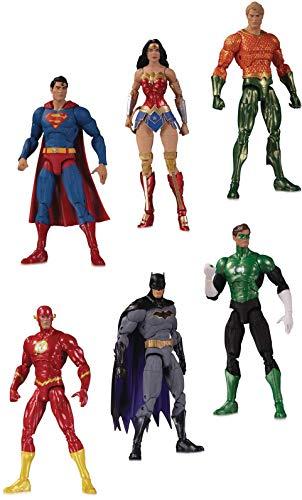 DC Direct Essentials: Justice League Action Figure 6-Pack, Multicolor