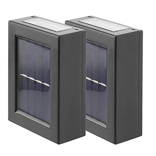 2 Juegos De Luces Led Solares, Apliques De Pared Con IluminacióN Cuadrada Hacia Arriba Y Hacia Abajo, Luces De Ambiente De IluminacióN Decorativa Para Terrazas, Aceras, Jardines Y Parques