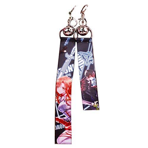 SGOT Die Seide Band Schlüsselanhänger, Anime Keychain, Backpack Anhänger für Anime Lovers 23cm( Sword Art Online)