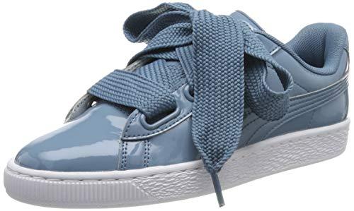 PUMA Basket Heart Patent Wn's Zapatillas para Mujer,Azul ( Bluestone-Puma Team Gold ) , 42 EU