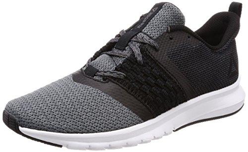 Reebok Print Lite Rush, Chaussures de Running Homme, Noir (Black/Ash Grey/White), 42.5 EU