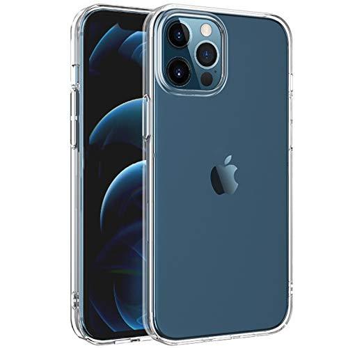 NEW'C - Cover protettiva per iPhone 12 Pro Max (6,7 pollici), ultra trasparente, in silicone gel TPU morbido, assorbimento di urti e graffi