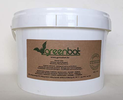 GREENBAT 5 Kg Granulada/Pellet NPK 7-6-3 Mezcla de Fertiliza